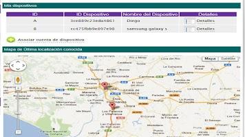 Screenshot of Tracking Mobile