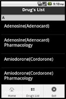 Screenshot of Anesthesia Drips