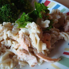 No-Guilt Creamy Salmon and Pasta
