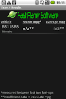 Screenshot of UK MPG Tracker
