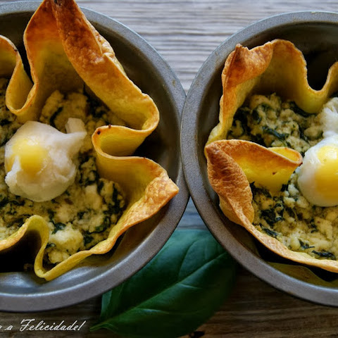 Cottage Cheese and Spinach Lasagna Baskets