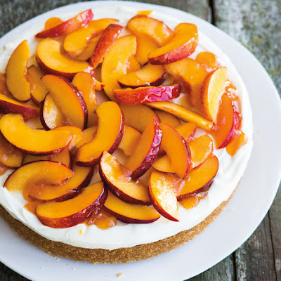 Honey-Nectarine Cheesecake