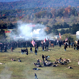 The Battle of Cedar Creek by Leah Zisserson - News & Events Entertainment ( canon, soldiers, cedar creek, battle, reenactors, civil war, virginia )