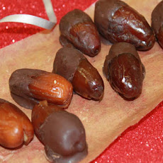Chocolate Dipped Ginger Dates
