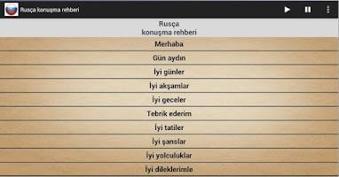 Screenshot of Rusça Konuşma Rehberi (FREE)