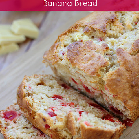 White Chocolate Cherry Banana Bread