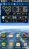 Screenshot of WVU Mountaineers Live Clock