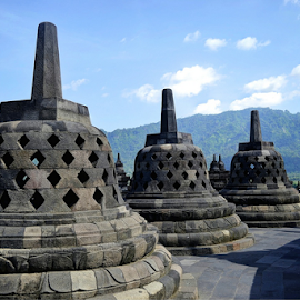 Borobudor Temple, Indonesia by Richard Idea - Buildings & Architecture Architectural Detail