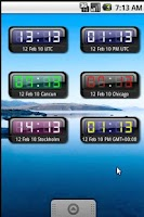 Screenshot of myUTC Clock Widget +World