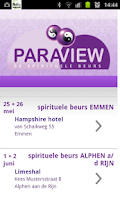 Screenshot of Paraview Beurs Agenda