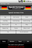 Screenshot of Speak German Free