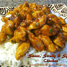 Sweet Sticky and Spicy Chicken