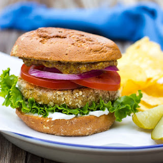 "Vegan ""Chicken"" Patty Sandwiches"