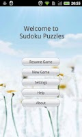 Screenshot of Sudoku Puzzles
