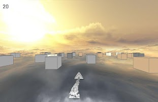 Screenshot of Cube Racer: A ship runner race