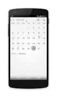 Screenshot of Alarmone -alarm clock/calendar