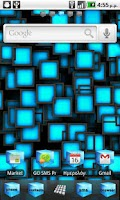 Screenshot of Blue Cube Theme GO Launcher EX