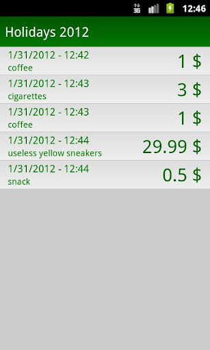 My Savings Tracker - screenshot