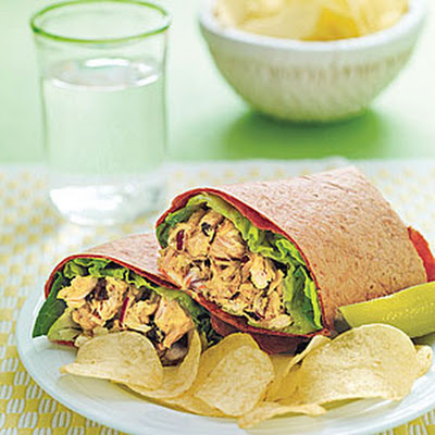 Curried Tuna Wraps