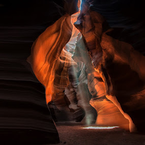 The magic of light by Anna Tatti - Landscapes Caves & Formations ( arizona antelope canyon rocks light, , golden hour, sunset, sunrise )