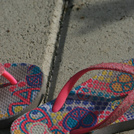 flip flops by Eric Rainbeau - Artistic Objects Clothing & Accessories ( pool, flip flops, sandals, beach )