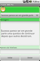 Screenshot of Frases SMS Pro