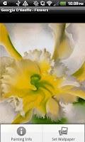 Screenshot of Georgia O'Keeffe - Flowers
