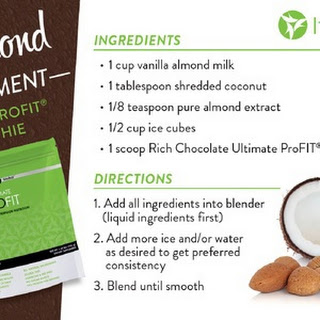 Almond, Chocolate, Coconut Smoothie