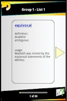 Screenshot of GRE Vocab & Test