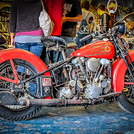 LeClaire Pickers Harley by Ron Meyers - Transportation Motorcycles