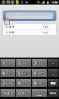 Screenshot of 4 digits
