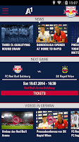 Screenshot of FC Red Bull Salzburg App
