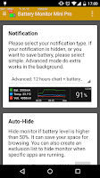 Screenshot of Battery Monitor Mini Pro