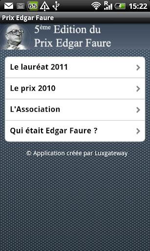Le Prix Edgar Faure