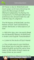 Screenshot of 99 Allah Names (Islam)