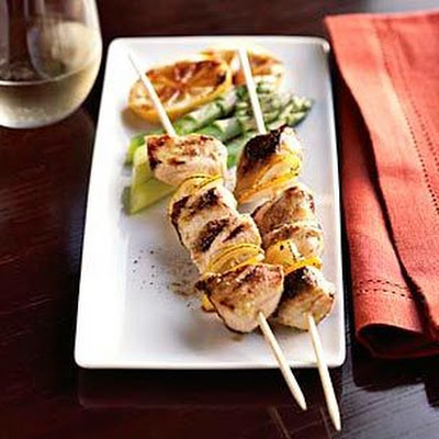 Lemon-Fennel Chicken Skewers