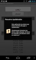 Screenshot of Solve Apalabrados Spanish