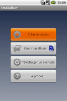 Screenshot of EmailAlbum