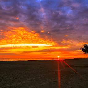 tramonto Latina by Ciprian Nafornita - Landscapes Sunsets & Sunrises ( sunset )