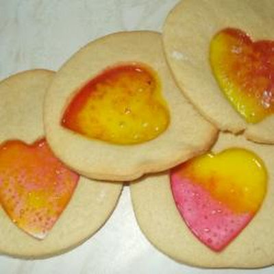 Valentine's Stained Glass Window Biscuits