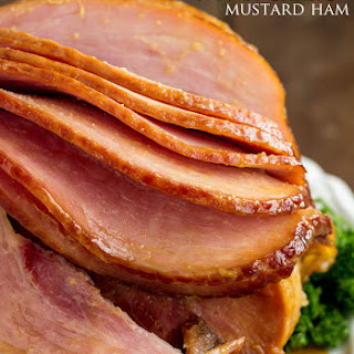 Slow Cooker Honey Garlic Mustard Glazed Ham