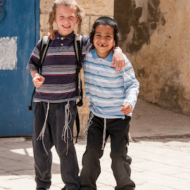 Young friends - Sefad, Israel by Terry Mendoza - Babies & Children Children Candids ( holiday, safed, travel, israel,  )