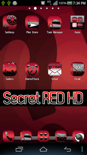 主題 SecretRED HD Go Launcher