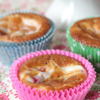 Raspberry and Cream Swirled Pumpkin Muffins