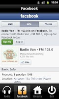 Screenshot of Radio VAN