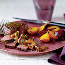 Sumac-Dusted Bison with Chanterelle Sauce and Beets