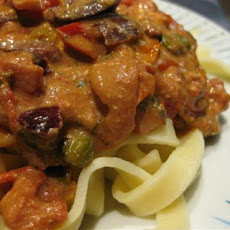 Pasta With Kalamata Olives and Roasted Grape Tomato Sauce