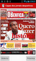 Screenshot of newsBenfica