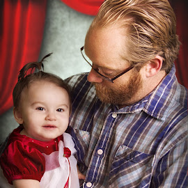Daddy's Girl by Sandra Hilton Wagner - People Family ( love, girl, baby, portrait, man, father )