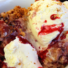 Warm Cherry Bread Pudding